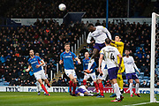 Shrewsbury Town head the ball clear during the EFL Sky Bet League 1 match between Portsmouth and Shrewsbury Town at Fratton Park, Portsmouth, England on 15 February 2020.