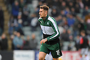 Sonny Bradley (15) of Plymouth Argyle warming up before the EFL Sky Bet League 2 match between Plymouth Argyle and Crawley Town at Home Park, Plymouth, England on 31 December 2016. Photo by Graham Hunt.