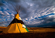 Image of a native American teepee at Custer Battlefield Trading Post, Montana, Pacific Northwest