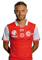 Gregoire Amiot of Reims during the photocall of Reims for new season of Ligue 2 on September 29th 2016 in Reims<br /> Photo : Stade de Reims / Icon Sport