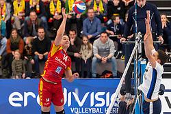 16-03-2019 NED: Sliedrecht Sport - Draisma Dynamo, Sliedrecht<br /> Round 5 of champion pool Eredivisie - Dynamo win 3-1 of Sliedrecht / Wessel Blom #14 of Dynamo