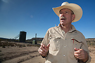 Don Schreiber on his ranch in Blanco, New Mexico. <br /> The Schreiber's own over 400 acres and lease hundreds more from the BLM. They do not own their mineral rights so they are have to contend with the drilling industry on their land. They successfully took on industry and the BLM, persuading them to twin existing drill sites instead of drilling hundreds of new ones.