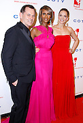 Bernd Beetz, Iman and Katharina Harf pose at the 5th Annual DKMS Gala at Cipriani Wall Street in New York City on April 28, 2011.