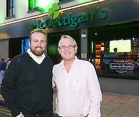 09/09/2015 Repro free: <br /> McGettigan's Galway Q&A session with Shane Lowry<br /> <br /> <br />  McGettigan's Galway were delighted to welcome WGC Bridgestone Champion and brand ambassador, Shane Lowry for his first visit to McGettigan's Galway for an exclusive Q&A session for invited guests.<br /> Shane discussed his rise from amateur status, all the challenges he's faced and overcome along the way and his most recent win at the WGC Bridgestone Championship. <br /> Shane hooked up with Denis McGettigan owner of McGettigan's .<br /> www.mcgettigans.com<br /> <br /> Follow McGettigan's Galway  on Twitter -@McGettigansGWY <br /> Photo:Andrew Downes, xposure.