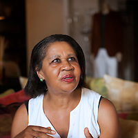 Jamaica Kincaid at Le Conversazioni in Capri, Italy. Photographed 8th July 2012<br /> <br /> Picture by Steve Bisgrove/Writer Pictures<br /> <br /> WORLD RIGHTS