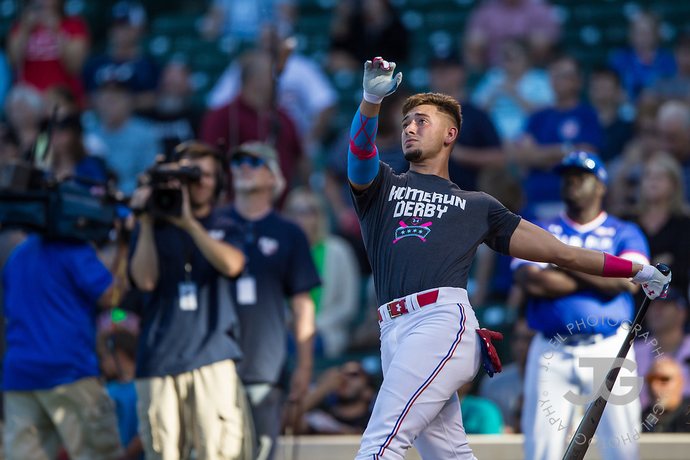 CHICAGO, IL - JULY 29:  Will Banfield participates in the Home Run Derby at the Under Armour All-America Game at Wrigley Field on Saturday, July 29, 2017 in Chicago, Illinois. (Photo by J. Geil/MLB Photos via Getty Images) *** Local Caption ***