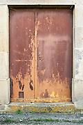old weathered wooden door