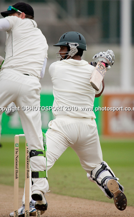 Tamim Iqbal Khan bats during day 2 of the one off test cricket match between New Zealand Black Caps and Bangladesh at Seddon Park, Hamilton, New Zealand, Tuesday 16 February 2010. Photo: Stephen Barker/PHOTOSPORT