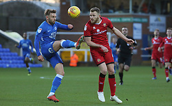 Matt Godden of Peterborough United in action with Nicky Devlin of Walsall - Mandatory by-line: Joe Dent/JMP - 22/12/2018 - FOOTBALL - ABAX Stadium - Peterborough, England - Peterborough United v Walsall - Sky Bet League One