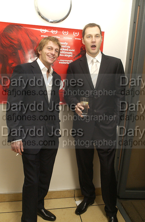 "Leo Gregory and David Morrissey. aftershow party followlng the UK Premiere of ""Stoned,"" at Century on November 17, 2005 in London, England. 17 November 2005. ONE TIME USE ONLY - DO NOT ARCHIVE  © Copyright Photograph by Dafydd Jones 66 Stockwell Park Rd. London SW9 0DA Tel 020 7733 0108 www.dafjones.com"