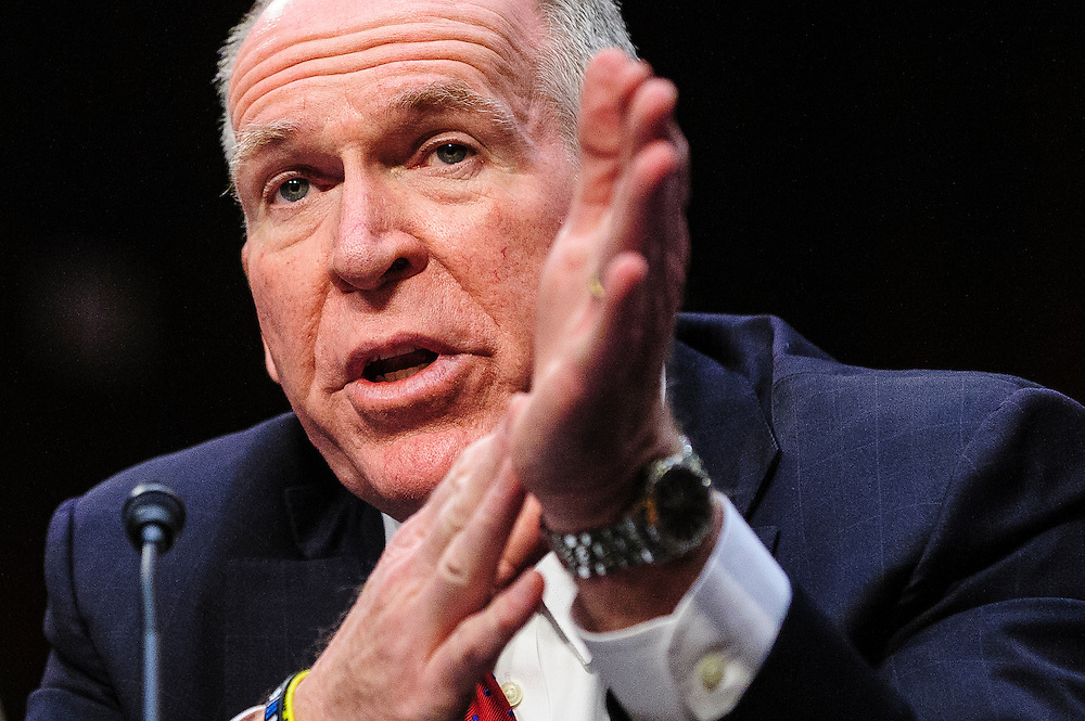 John Brennan testifies before the Senate (Select) Intelligence Committee hearing on his nomination of  to be director of the Central Intelligence Agency.