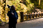 Photographer at Columbia River Gorge, Oregon.