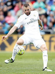 16.04.2016, Estadio Coliseum Alfonso Perez, Getafe, ESP, Primera Division, Getafe CF vs Real Madrid, 33. Runde, im Bild Real Madrid's Karim Benzema // during the Spanish Primera Division 33th round match between Getafe CF and Real Madrid at the Estadio Coliseum Alfonso Perez in Getafe, Spain on 2016/04/16. EXPA Pictures © 2016, PhotoCredit: EXPA/ Alterphotos/ Acero<br /> <br /> *****ATTENTION - OUT of ESP, SUI*****