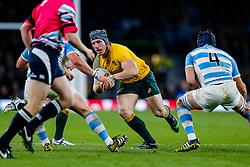 Australia Number 8 David Pocock in action - Mandatory byline: Rogan Thomson/JMP - 07966 386802 - 25/10/2015 - RUGBY UNION - Twickenham Stadium - London, England - Argentina v Australia - Rugby World Cup 2015 Semi Finals.