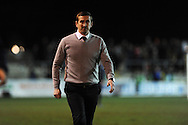 Newport county manager Justin Edinburgh looks on. Blue Square Bet Premier division, Newport County FC v Wrexham at Rodney Parade in Newport, South Wales on Friday 4th Jan 2013. pic by Andrew Orchard, Andrew Orchard sports photography,