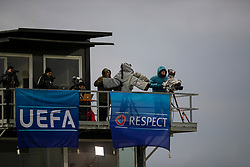 GRÖDIG, AUSTRIA - Tuesday, December 10, 2019: Television cameras during the final UEFA Youth League Group E match between FC Salzburg and Liverpool FC at the Untersberg-Arena. (Pic by David Rawcliffe/Propaganda)
