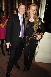 The EARL & COUNTESS OF DERBY at a party to celebrate the publication of Top Tips For Girls by Kate Reardon held at Claridge's, Brook Street, London on 28th January 2008.<br />