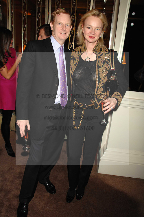 The EARL &amp; COUNTESS OF DERBY at a party to celebrate the publication of Top Tips For Girls by Kate Reardon held at Claridge's, Brook Street, London on 28th January 2008.<br /><br />NON EXCLUSIVE - WORLD RIGHTS