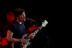 © Licensed to London News Pictures. 05/04/2012. London, UK. Chris Rea performs live at Hammersmith Apollo as part of his Santo Spirito tour, promoting his latest studio album Santo Spirito Blues. Photo credit : Richard Isaac/LNP