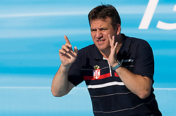 Coach of Serbia Dejan Udovicic during waterpolo Semifinal Round match between National teams of Croatia and Serbia during the 13th FINA World Championships Roma 2009, on July 30, 2009, at the Stadio del Nuoto,  Foro Italico, Rome, Italy. Serbia won 12:11. (Photo by Vid Ponikvar / Sportida)