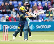 Glamorgan's Craig Meschede hits a boundary<br /> <br /> Photographer Simon King/Replay Images<br /> <br /> Vitality Blast T20 - Round 14 - Glamorgan v Surrey - Friday 17th August 2018 - Sophia Gardens - Cardiff<br /> <br /> World Copyright &copy; Replay Images . All rights reserved. info@replayimages.co.uk - http://replayimages.co.uk