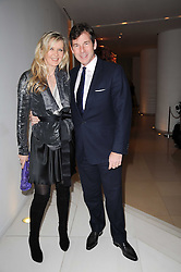 AMANDA WAKELEY and HUGH MORRISON at a party to celebrate Lancome's 10th anniversary of sponsorship of the BAFTA's in association with Harper's Bazaar magazine held at St.Martin's Lane Hotel, London on 19th February 2010.
