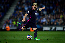 April 29, 2017 - Barcelona, Spain - BARCELONA, SPAIN. APRIL 29TH, 2017 - Ivan Rackitic kicks the ball during La Liga Santander matchday 35 game between Espanyol and FC Barcelona. RCDE Stadium. Photo by EALO | PHOTO MEDIA EXPRESS (Credit Image: © Ealo/VW Pics via ZUMA Wire/ZUMAPRESS.com)