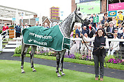 SOVEREIGN DEBT (5) ridden by jockey James Sullivan and trained by Ruth Carr in the Winners Enclosure after  winning The Listed mrgreen.com Live Casino Ganton Stakes over 1m (£50,000)  during the Mid Summer Raceday at York Racecourse, York, United Kingdom on 15 June 2018. Picture by Mick Atkins.