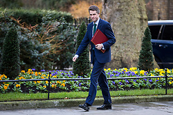 © Licensed to London News Pictures. 08/02/2018. London, UK. Defence Secretary Gavin Williamson arrives on Downing Street ahead of the second part of the Brexit Cabinet meeting. Photo credit: Rob Pinney/LNP
