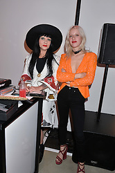 Left to right, PRINCESS JULIA and HARRIET VERNEY at the launch of The Lulu Perspective to celebrate 25 years of Lulu Guinness held at 74a Newman Street, London on 13th September 2014.