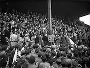 12/10/1952<br /> 10/12/1952<br /> 12 October 1952<br /> <br /> GAA All Ireland Senior Football Replay Meath Vs. Cavan With Bishop Dr. Kyne of Meath