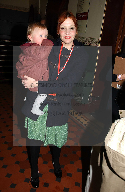 PEARL LOWE and her daughter BEATRIX at the opening night of Cirque Du Soleil's 'Alegria' held at the Royal Albert, London on 5th January 2007.<br />