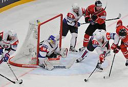 13.05.2013, Globe Arena, Stockholm, SWE, IIHF, Eishockey WM, Kanada vs Slowenien, im Bild Slovenia (Slovenien) 17 Ziga Pavlin räddar // during the IIHF Icehockey World Championship Game between Canada and Slovenia at the Ericsson Globe, Stockholm, Sweden on 2013/05/13. EXPA Pictures © 2013, PhotoCredit: EXPA/ PicAgency Skycam/ Simone Syversson..***** ATTENTION - OUT OF SWE *****
