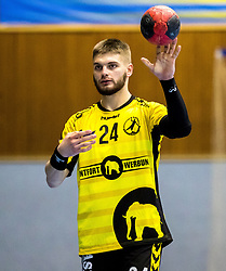 23.02.2018, BSFZ Suedstadt, Maria Enzersdorf, AUT, HLA, SG INSIGNIS Handball WESTWIEN vs Bregenz Handball, Bonus-Runde, 3. Runde, im Bild Roman Chychykalo (Bregenz Handball) // during Handball League Austria, Bonus-Runde, 3 rd round match between SG INSIGNIS Handball WESTWIEN and Bregenz Handball at the BSFZ Suedstadt, Maria Enzersdorf, Austria on 2018/02/23, EXPA Pictures © 2018, PhotoCredit: EXPA/ Sebastian Pucher