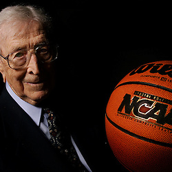Hall of Fame UCLA basketball coach John Wooden spoke with <br />