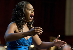 Jan. 27, 2014 - Prague, Czech Republic - Southafrican soprano Pretty Yende performs during a concert with Prague Philharmonia in Municipal House in Prague, Czech Republic, January 27, 2014. (Credit Image: © Vit Simanek/CTK/ZUMAPRESS.com)