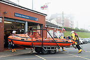 Cleethorpes RNLI inshore lifeboat in action,