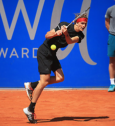 MUNICH, May 7, 2018  Germany's Alexander Zverev hits a return during the men's singles final match of BMW Open 2018 against his compatriot Philipp Kohlschreiber in Munich, Germany, on May 6, 2018. Alexander Zverev won 2-0 to claim the title. (Credit Image: © Philippe Ruiz/Xinhua via ZUMA Wire)