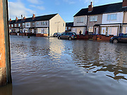 Flooding in Doncaster, Bentley, Hunt Lane on 8 November 2019. Picture by Ben Early.