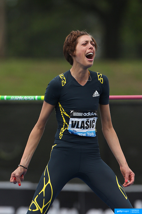 Blanka Vlasic, Croatia, winning the Women's High Jump during the Diamond League Adidas Grand Prix at Icahn Stadium, Randalls' Island, Manhattan, New York, USA. 25th May 2013. Photo Tim Clayton