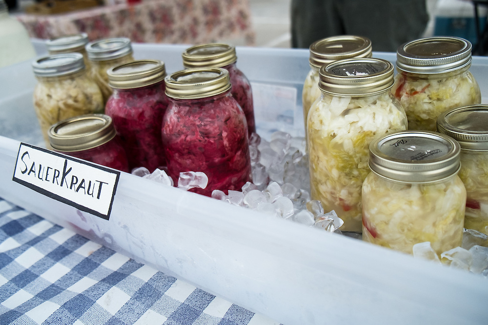 SauerKraut at EZ Rocking Ranch's stand at the Gillette Farmer's Market | August 2014