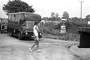 Top of muddy lane, at Glastonbury, 1989.