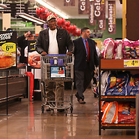 Adam Robison | BUY AT PHOTOS.DJOURNAL.COM<br /> Robert Brand, of Shannon, shops at the newly remodeled Kroger in Tupelo. The store held a grand reopening Wednesday morning at the its Main Street location.