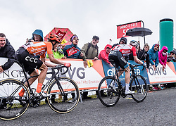 12.07.2019, Kitzbühel, AUT, Ö-Tour, Österreich Radrundfahrt, 6. Etappe, von Kitzbühel nach Kitzbüheler Horn (116,7 km), im Bild v.l. Riccardo Zoidl (AUT, CCC Team), Ben Hermans (BEL, Israel Cycling Academy) im roten Flyeralarm Trikot des Gesamtsiegers der Österreich Rundfahrt // f.l. Riccardo Zoidl of Austria (CCC Team) Tour of Austria winner Ben Hermans of Belgium Team Israel Cycling Academy in the red Flyeralarm overall leader jersey during 6th stage from Kitzbühel to Kitzbüheler Horn (116,7 km) of the 2019 Tour of Austria. Kitzbühel, Austria on 2019/07/12. EXPA Pictures © 2019, PhotoCredit: EXPA/ Reinhard Eisenbauer