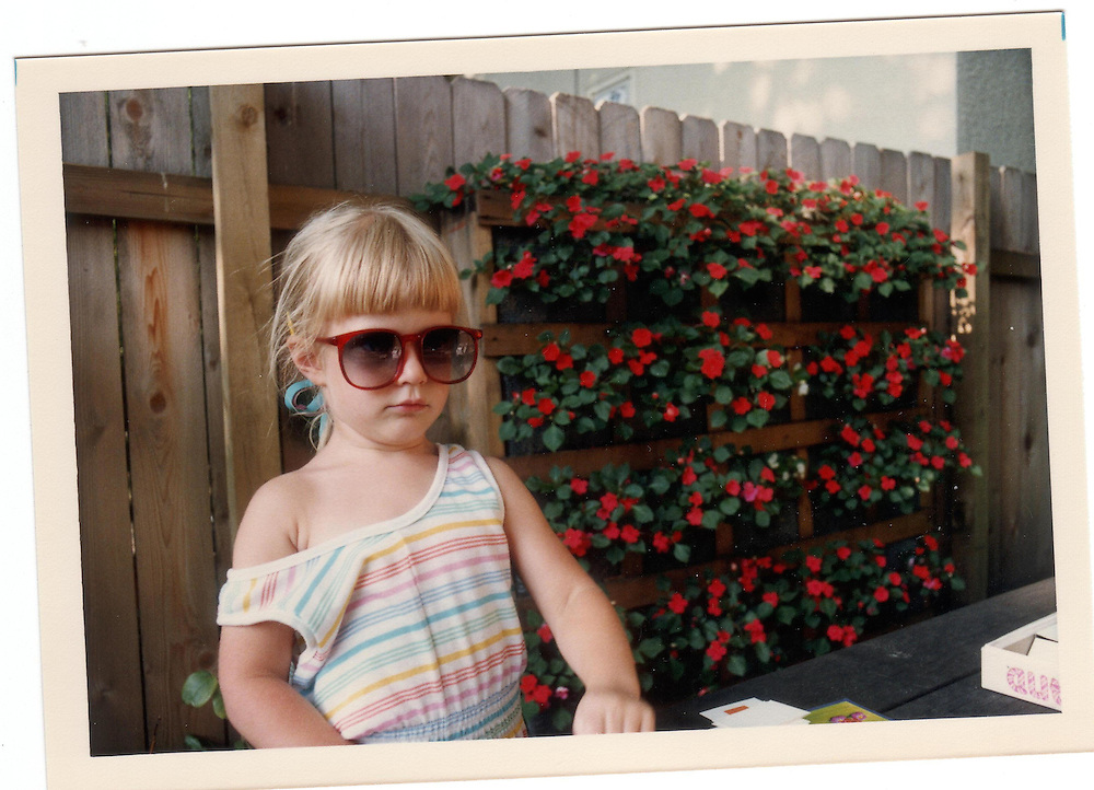4-year old Caroline Sellke ponders her next move.