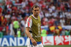 July 1, 2018 - Moscow, Russia - July 01, 2018, Russia, Moscow, FIFA World Cup 2018, the playoff round. Football match Spain - Russia at the stadium Luzhniki. Player of the national team Artem Dzyuba; Artem Dzyuba. (Credit Image: © Russian Look via ZUMA Wire)