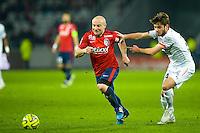 Florent Balmont / Sanjin Prcic - 15.03.2015 - Lille / Rennes - 29e journee Ligue 1<br /> Photo : Andre Ferreira / Icon Sport