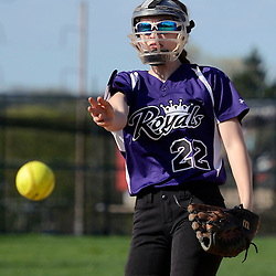 Staff photos by Tom Kelly IV<br /> Upper Darby pitcher E. Redden (22) throws a pitch during the Ridley at Upper Darby softball game on Wednesday.