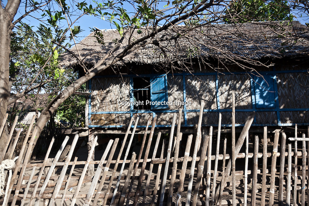 Indonesia, Lombok archipelago, Moyo island, vilages with piles house