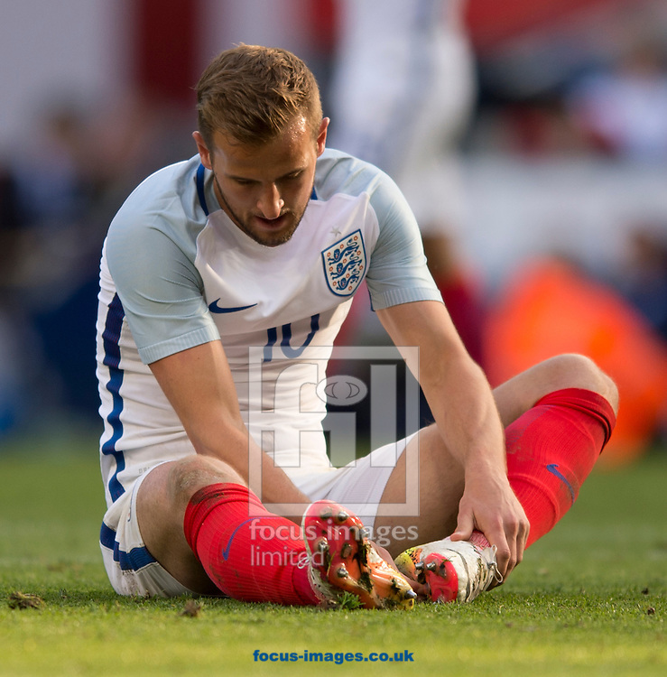 Harry Kane of England has a look of disappointment after missing an opportunity during the International Friendly match at the Etihad Stadium, Manchester<br /> Picture by Russell Hart/Focus Images Ltd 07791 688 420<br /> 22/05/2016
